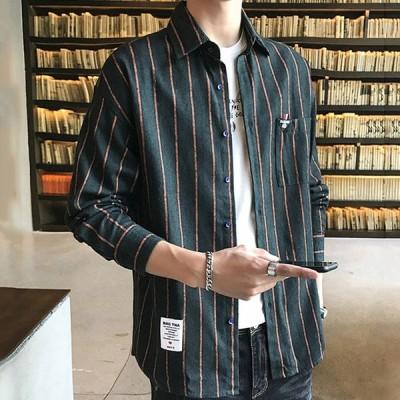 シャツ メンズ チェックシャツ シャツ トップス 長袖 シャツ ジャケット カジュアル 大きいサイズ  タイト 体型カバー 通勤 春 夏 チェック コットン