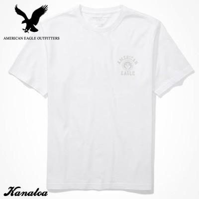アメリカンイーグル Tシャツ 半袖 メンズ プリント グラフィック クルーネック ホワイト 大きいサイズあり