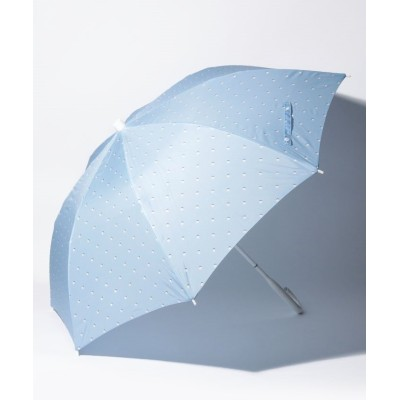 (+TIC/プラスチック)+TIC 婦人長傘 Pプリントドット/レディース サックスブルー