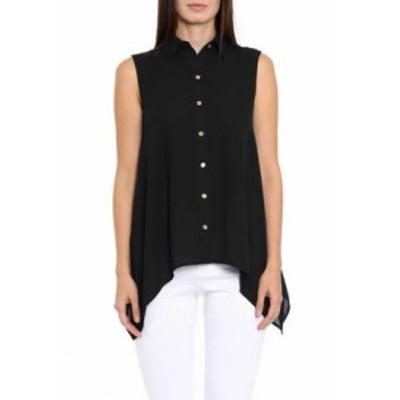 マイケルコース レディース シャツ トップス Women's Sleeveless Handkerchief Hem Top Black