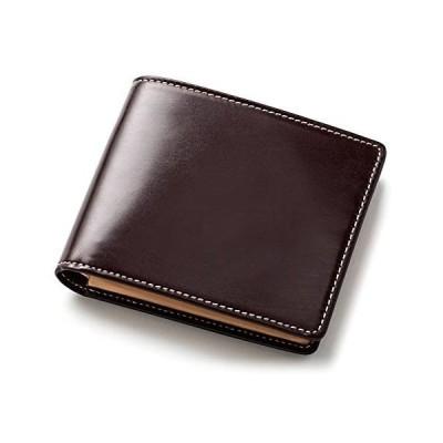 [ブリティッシュグリーン] 二つ折り財布 メンズ 英国伝統のブライドルレザー使用 本革 NEWモデル (03.バーガンディ)
