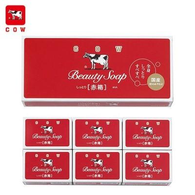 牛乳石鹸 カウブランド 赤箱 100g×6個入 ローズ調の香り cow