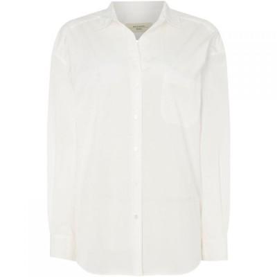 マックスマーラ Max Mara Studio レディース ブラウス・シャツ トップス Locusta shirt with pockets White