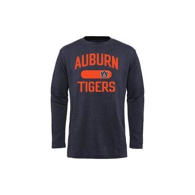 カレッジ NCAA USA アメリカ Auburn タイガース ネイビー ブルー ストレート Out 長袖 Thermal Tシャツ