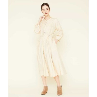 Sybilla/シビラ タックデザインシャツドレス ベージュ 36