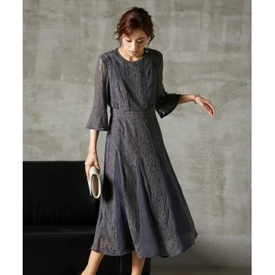【結婚式。お呼ばれ。二次会】スカート切替レースワンピースドレス<大きいサイズ> ,スマイルランド, 【謝恩会・パーティドレス】Dress