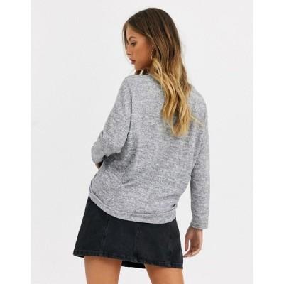 ジェイディーワイ レディース ニット&セーター アウター JDY Choice v neck long sleeve sweater Light gray melange