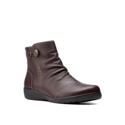 クラークス ブーツ&レインブーツ シューズ レディース Women's Collection Cheyn Zoe Boots Dark Brown Leather