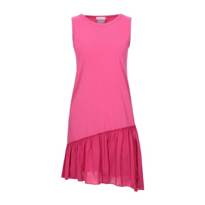 PEPITA ミニワンピース&ドレス フューシャ 40 コットン 100% / レーヨン / レーヨン ミニワンピース&ドレス