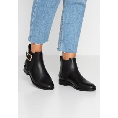 オンリー シューズ ブーツ&レインブーツ レディース シューズ ONLBOBBY ELASTIC BUCKLE - Ankle boots - black