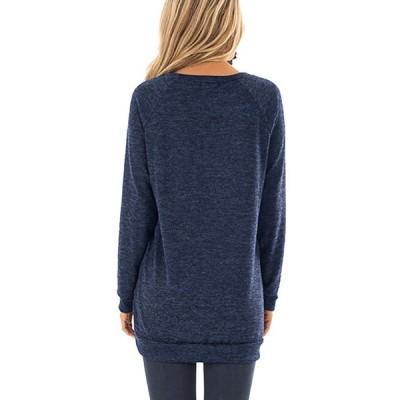 Symptor Womens Long Sleeve Casual Crew Neck Pullover Loose Sweatshirt