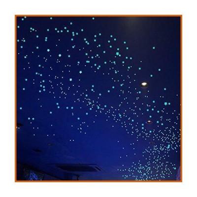 ウォールデコレーション Glow in The Dark Stars Decals Decor for Ceiling 633 Pcs Realistic 3D Stickers Starry Sky Shining Decoratio