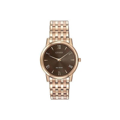 シチズン 腕時計 Citizen エコドライブ ローズ ゴールド ステンレス スチール ブラウン ダイヤル メンズ AR1123-51X 腕時計