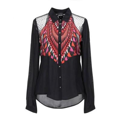 ジャストカヴァリ JUST CAVALLI シャツ ブラック 40 レーヨン 100% シャツ