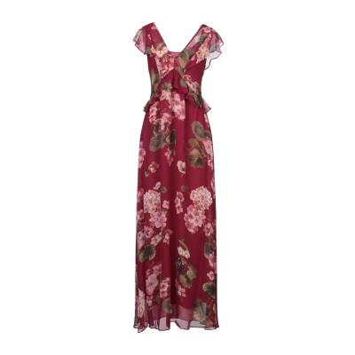 ツインセット シモーナ バルビエリ TWINSET ロングワンピース&ドレス ディープパープル 44 レーヨン 100% ロングワンピース&ドレス