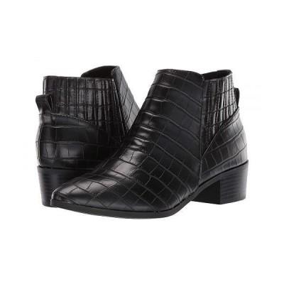 Unisa レディース 女性用 シューズ 靴 ブーツ アンクルブーツ ショート Hollia - Black Crocco