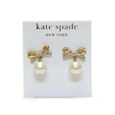ケイトスペード Kate Spade SKINNY MINI Pearl Drop Earrings リボンモチーフ パールピアス WBRU5153