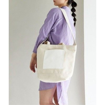 トートバッグ バッグ 【THE CASE】many pocket 2way tote