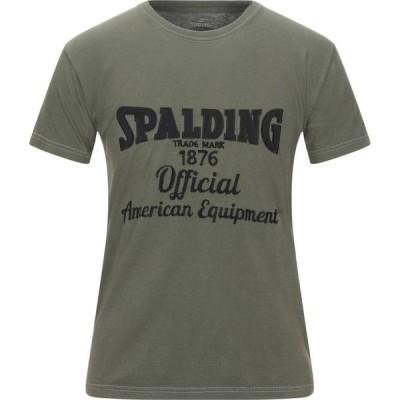 スポルディング SPALDING メンズ Tシャツ トップス T-Shirt Military green
