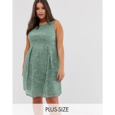 ラブドローブ Lovedrobe レディース ワンピース ワンピース・ドレス lace midi dress Green