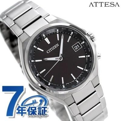 シチズン アテッサ エコ・ドライブ電波 電波ソーラー メンズ 腕時計 CB1120-50E CITIZEN ATTESA ブラック