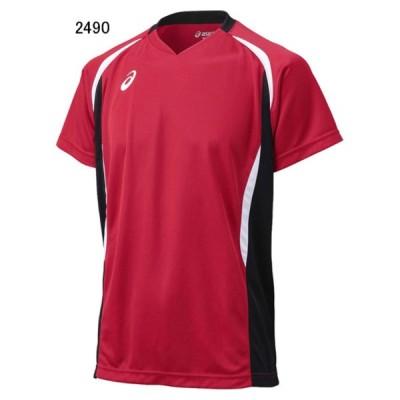 アシックス バレーボール ユニホーム ゲームシャツ ゲームシャツHS Vレッド×ブラック 2490 AS-XW1325-2490