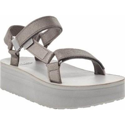 テバ レディース サンダル シューズ Women's Teva Flatform Universal Strappy Sandal Metallic Pewter Leather