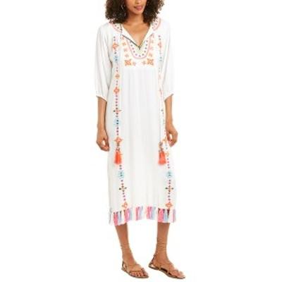 へマント&ナンディータ レディース ワンピース トップス Hemant & Nandita Embroidered Twill Maxi Dress white multicolor