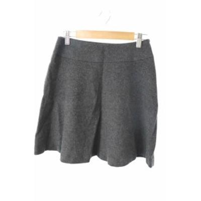 【中古】ノーリーズ Nolley's スカート フレア ミニ ウール シルク混 34 グレー /RI13 レディース