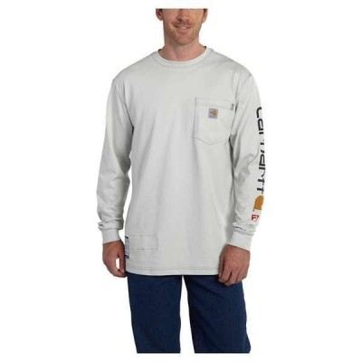 カーハート メンズ シャツ トップス Carhartt Men's Flame Resistant Force Cotton Graphic LS T-Shirt