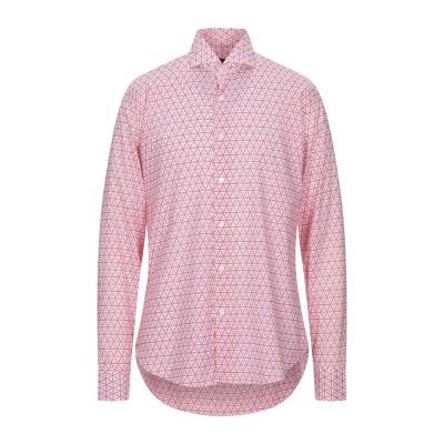 FEDELI シャツ フューシャ 41 コットン 95% / ポリウレタン 5% シャツ