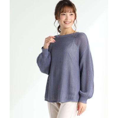 (Honeys/ハニーズ)メッシュ編プルオーバー/レディース ブルー