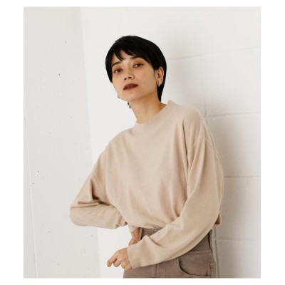 (AZUL by moussy/アズールバイマウジー)NUDIE H/N KNIT TOPS/レディース L/BEG1