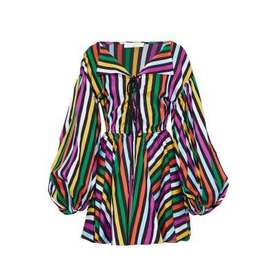 CAROLINE CONSTAS ミニワンピース&ドレス ブラック XS コットン 100% ミニワンピース&ドレス