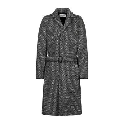 SAINT LAURENT コート ブラック 48 ウール 100% コート