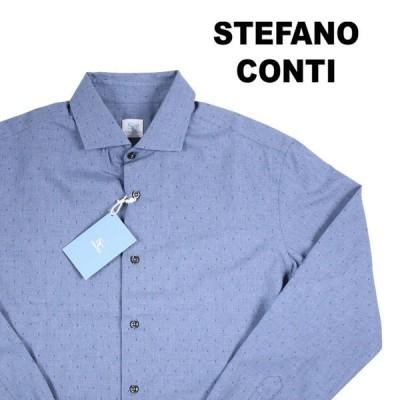 stefano conti(ステファノ・コンティ) 長袖シャツ INCHINO 001 ネイビー 39 13399 【A13401】