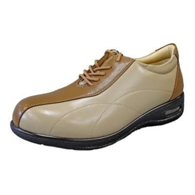 PIERRE RICCI ピエールリッチ やわらか山羊革4E快適エアークッション レディースシューズ オーク×ベージュ(婦人靴) 24.5cm