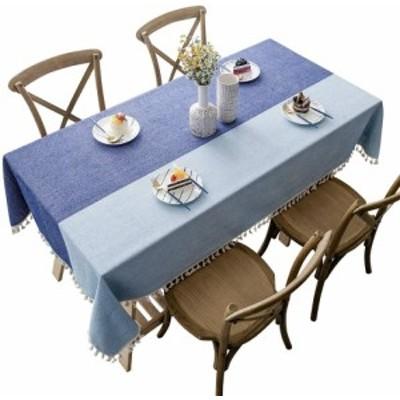 CHOZAN テーブルクロス コットンリネン材質 耐用 肌触り良い タッセルエッジ おしゃれ 汚れ防止 インテリア キッチン/ダイニング