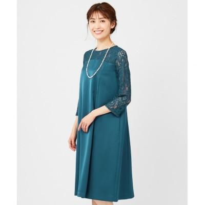 【エニィスィス/any SiS】 【洗える】レースコンビサック ドレス