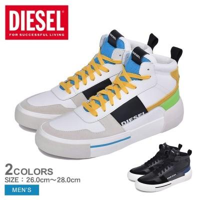 ディーゼル DIESEL スニーカー メンズ S-DESE MG MID Y02108-P2462 シューズ 靴 黒 白 ハイカット ミドルカット 冬