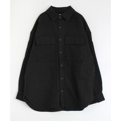 シャツ ブラウス B2532 ウールリネンシャツ