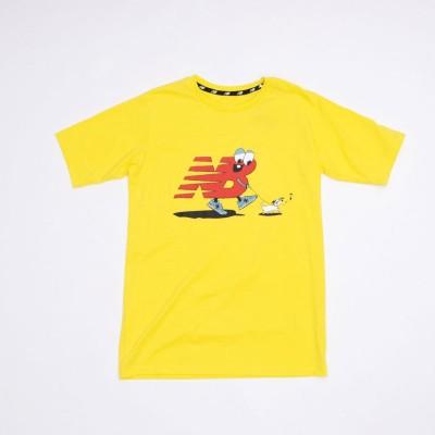ニューバランス new balance ジュニア 半袖Tシャツ JJTP1307 JJTP1307 (イエロー)
