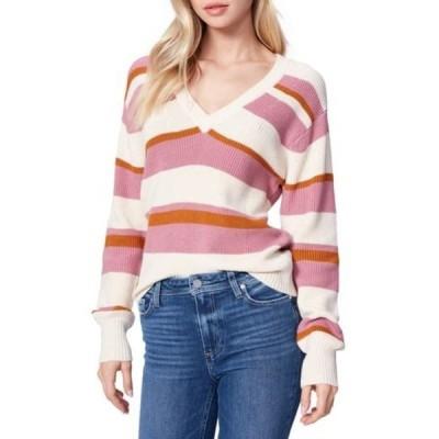 ペイジ レディース ニット&セーター アウター Negin Stripe Sweater PNKGLDSTR