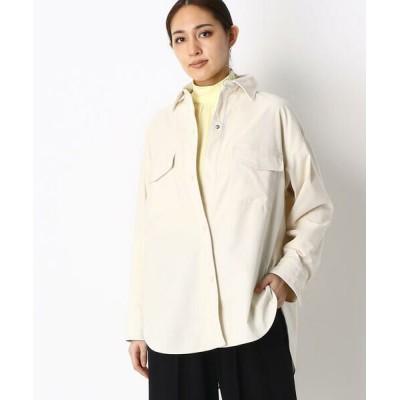 COMME CA/コムサ ドロップショルダー CPOシャツジャケット エクリュ 9号