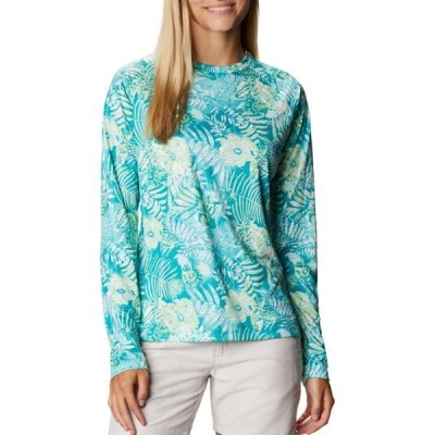 コロンビア シャツ トップス レディース Columbia Women's Super Tidal Long Sleeve Shirt TropicWatrBatikFlrlPr