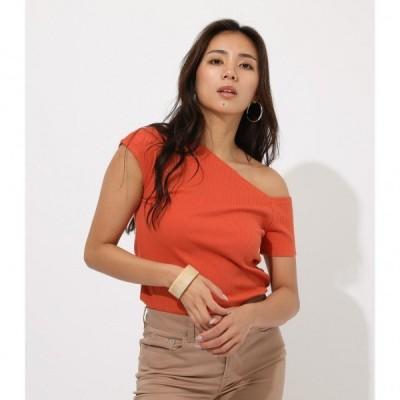 Asymmetry sleeve cut tops /レディース/トップス カットソー  半袖【MARKDOWN】