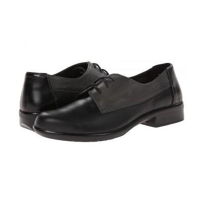 Naot ナオト レディース 女性用 シューズ 靴 オックスフォード 紳士靴 通勤靴 Kedma - Jet Black Leather/Tin Gray Leather/Black Madras Leather