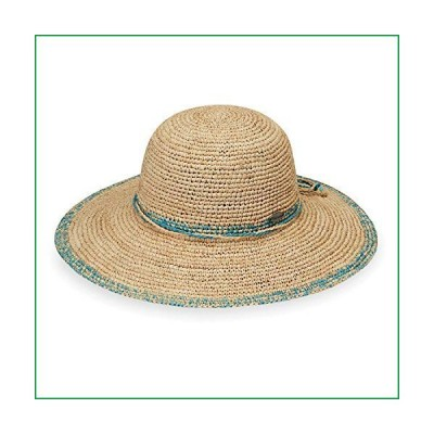 Wallaroo Hat Company Women's Camille Sun Hat ? Adjustable, Broad Brim, Elegant Style, Designed in Australia, Turquoise【並行輸入品】