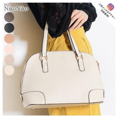 ShopNikoNiko シンプルトートバッグ 鞄 バッグ トート ハンドバッグ シンプル 肩掛け 大容量 高見え 通勤 通学 入学式 フォーマルレディース 韓国ファッション ベージュ フリー レディース