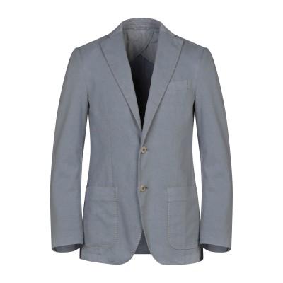SANREMO テーラードジャケット グレー 48 コットン 88% / ポリエステル 12% テーラードジャケット